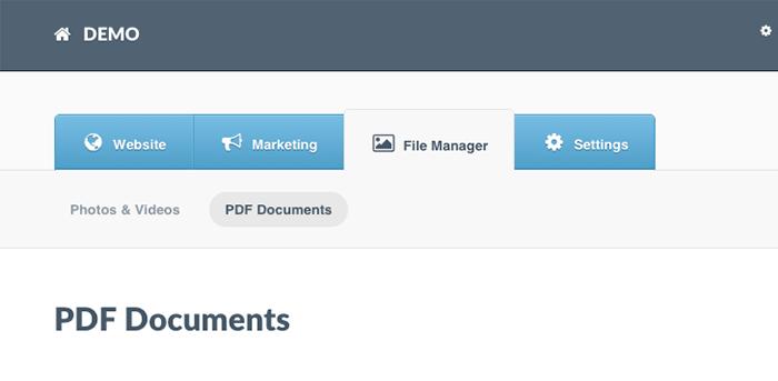 upload pdf link to website